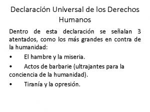 declaracion dr humanos